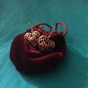 Elegant Heart shaped earrings from Macy's.